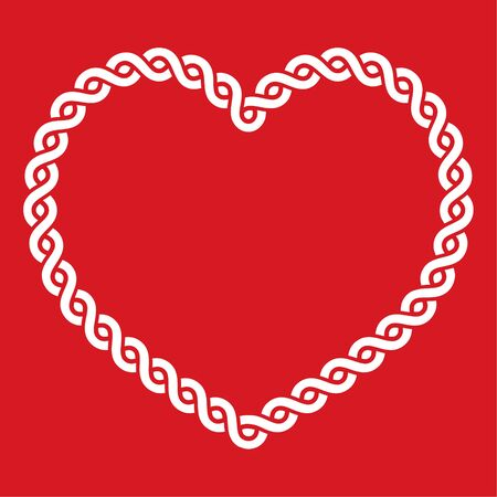 Celtic knot pattern red heart shape - love concept for St Patricks Day, Valentines Illustration
