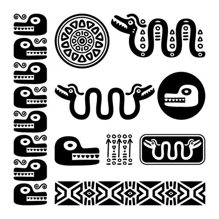 Ancient Mexican design set.