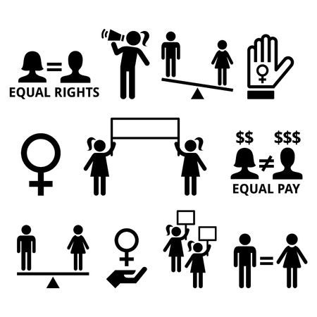 freedom woman: Womens rights, feminism, equal rights form men and women