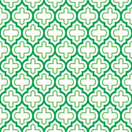 tile: Geometric seamless pattern, Moroccan tiles design, green background