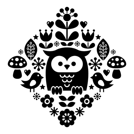 traditional: Scandinavian pattern, Nordic folk art - inspired by traditional Finnish and Swedish designs