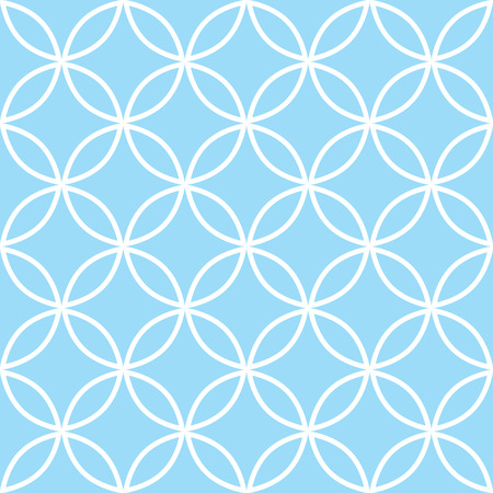 blue abstract: Geometric seamless pattern in pastel blue, modern minimal background