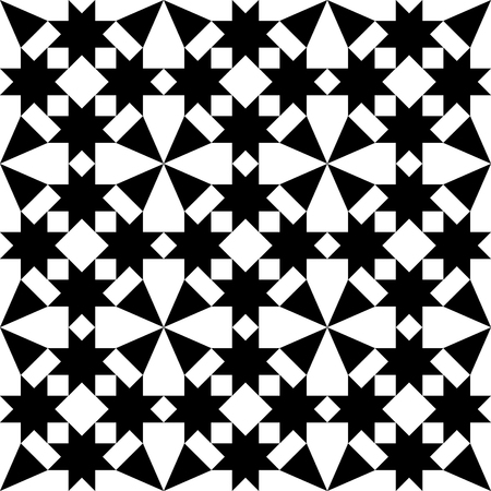 textured backgrounds: Geometric seamless black tile pattern