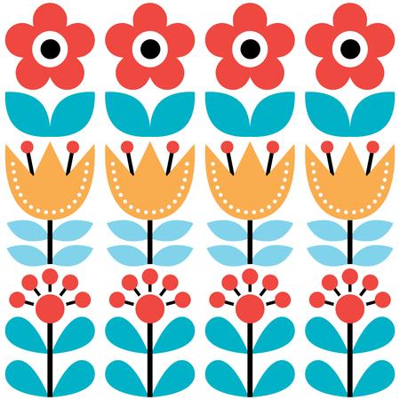 Skandynawski szwu, szwedzki sztuki ludowej, retro kwiatów tle