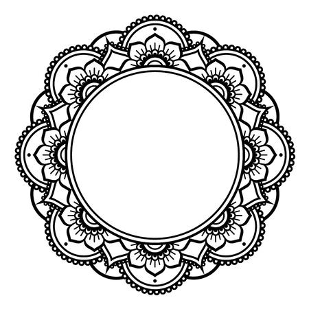 forme: Mandala design, Mehndi henna tattoo inspired round pattern