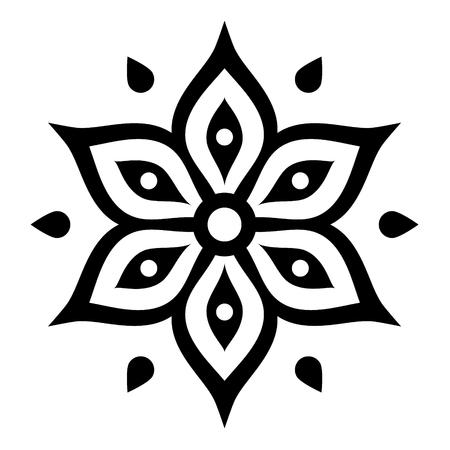 Boho flower design inspired by Mehndi - Indian Henna tattoo
