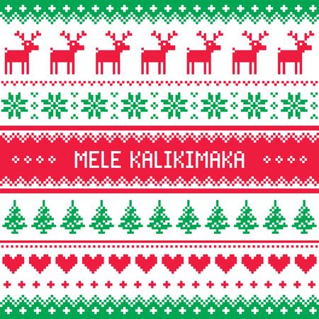mele kalikimaka merry christmas in hawaiian greetings card seamless pattern stock vector 80627787