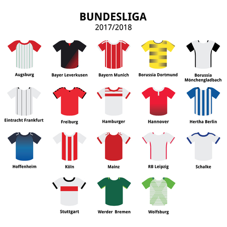 Bundesliga jerseys 2016 - 2017, German football league icons
