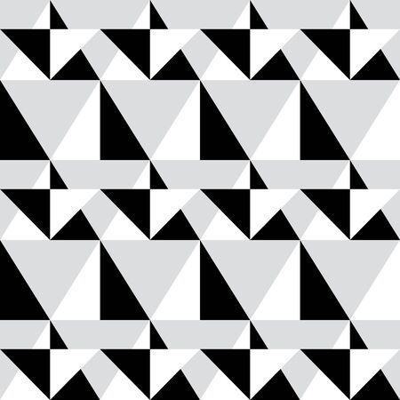 modern background: Geometric seamless pattern - abstract black and white shapes, illustration background Illustration