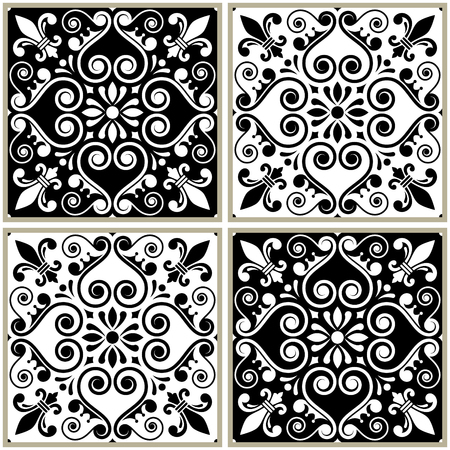tile pattern: Tiles collection in white design