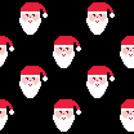 winter fashion: Santa pattern, Christmas wallpaper, Xmas repetitive decoration