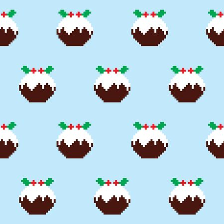 great: Christmas pudding seamless pattern, Christmas jumper or sweater style, Xmas decor