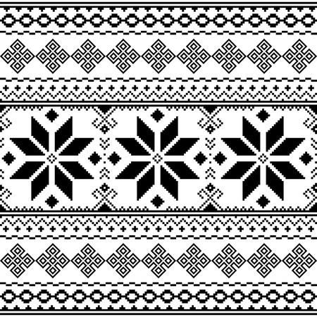 Traditional black embroidery pattern