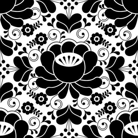 Schwarz-Weiß-Varianten Der Russischen Traditionellen Mustern ...