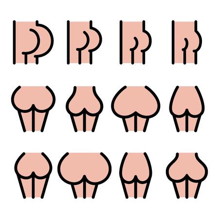 Verschillende bumgrootte iconen - groot, plat, groot, klein