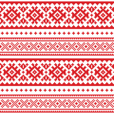 Folk art pattern. Ilustrace
