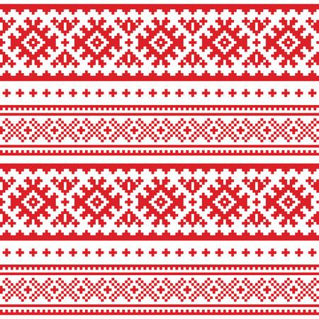 Folk art pattern. Vectores