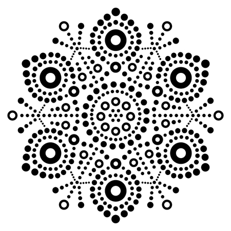 Christmas black snowflake dot art vector design.