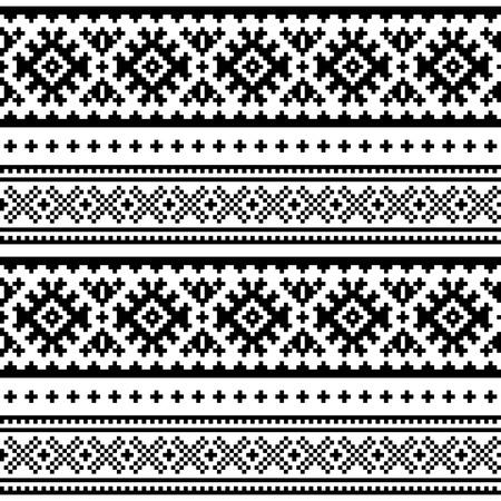 Patrón de arte popular sin costuras. Diseño tradicional de Laponia