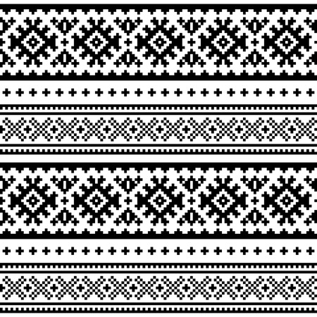 Seamless folk art pattern. Lapland traditional design