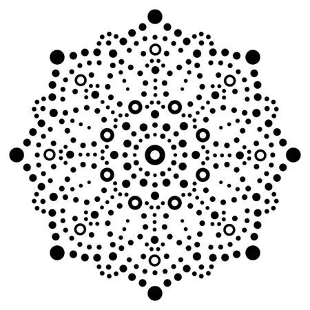 Mandala bohemian vector dot painting vector design, Aboriginal traditional decorative pattern, Australian mosaic art