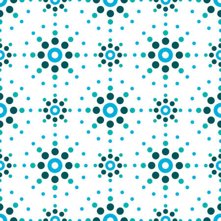 Geometric abstract seamless vector pattern with dot art - inspired by Portugese and Moroccan tile design
