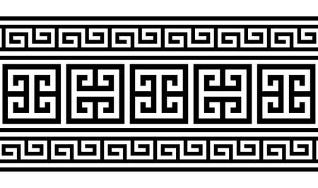 Greek key pattern seamless vector design - inspired by ancient Greece pottery art