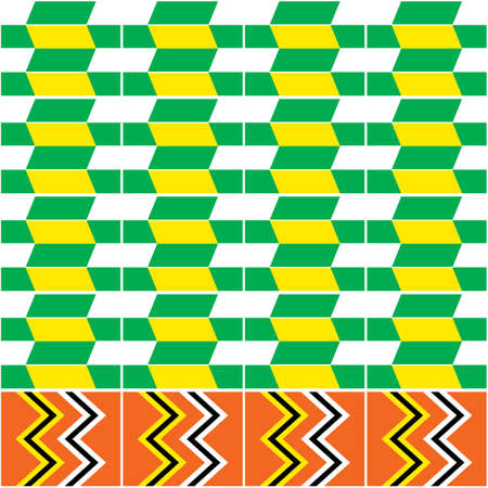 Traditional Kente nwentoma cloth style vector seamless pattern, repetitive design with geometric shapes inspired by African tribal fabrics or textiles from Ghana
