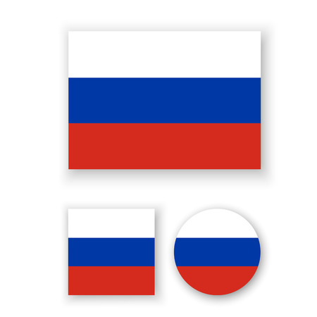 russian federation: Set of vector icons with Russian Federation flag