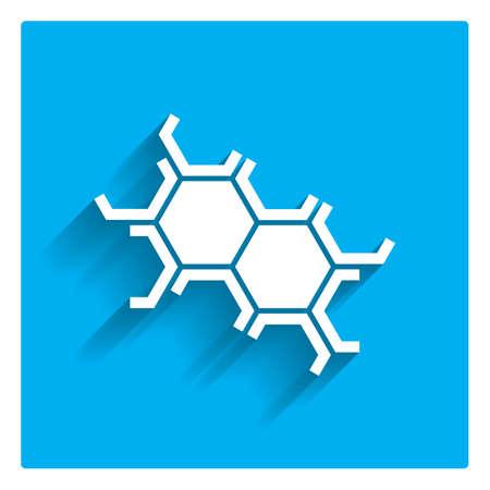 Estructura celular icono Ilustración de vector