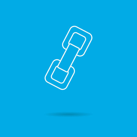 chain links: Chain links icon Illustration
