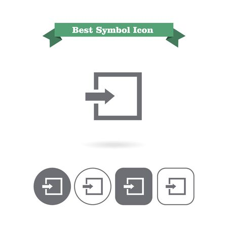 Icon of entrance or log in sign Vector