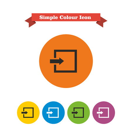 log in: Icon of entrance or log in sign Illustration
