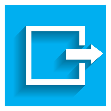 Icon of exit or log out sign Vector