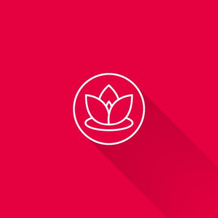 design objects: Lotus icon Illustration