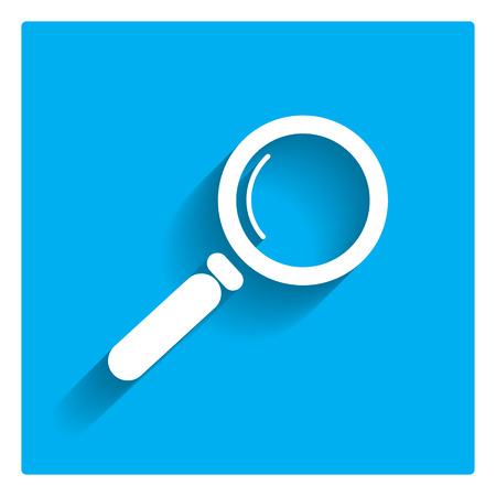 lupa: Icono de lupa Vectores