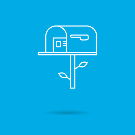Mailbox icon Illustration
