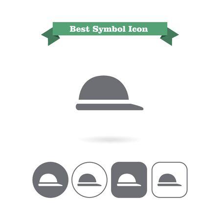 brim: Icon of retro mens hat