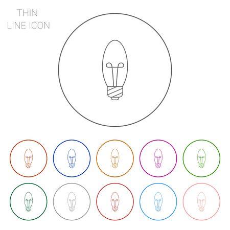 watt: Line icon of minion candle bulb Illustration