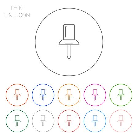 push pin icon: Push pin icon
