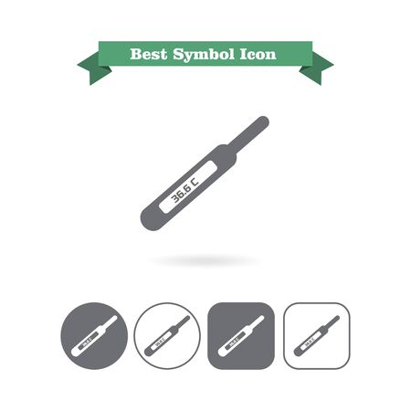 indication: Icon of electronic thermometer with indication