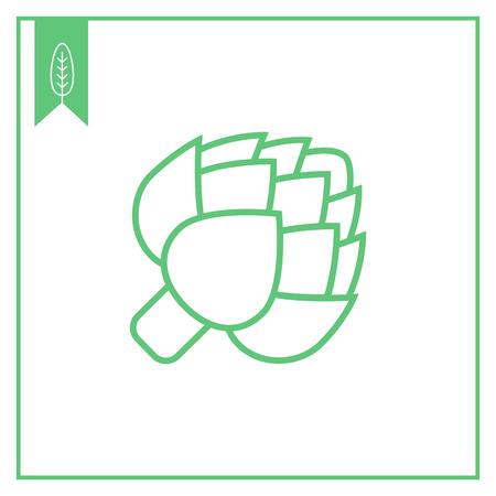 Artisjok icoon Vector Illustratie