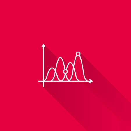 uptrend: Icon of line graph