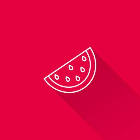 silhouette sign: Icon of watermelon slice Illustration