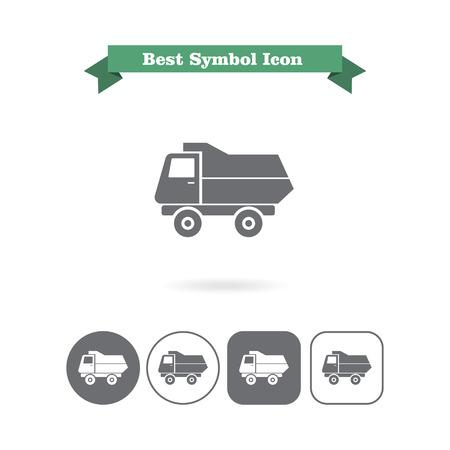 volteo: Icono de carro de descarga Vectores