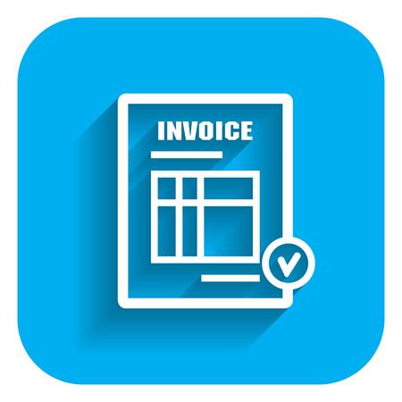 Icon of invoice document  イラスト・ベクター素材