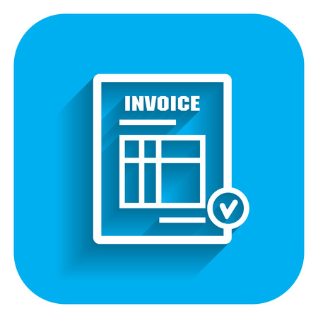 Icon of invoice document Stock Illustratie