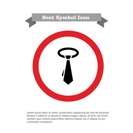 necktie: Necktie icon Illustration