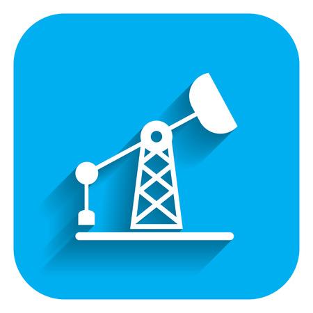 barril de petr�leo: Icono de la plataforma petrolera Vectores