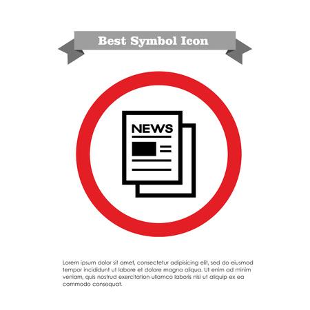 newspaper icon: Online newspaper icon